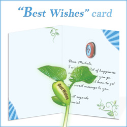 Inside the Best Wishes Nature's Greeting Card