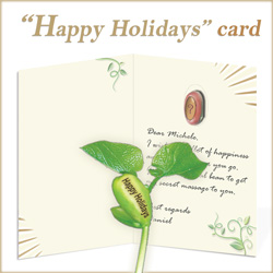 Nature's Greeting Card Happy Holidays