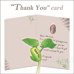 Inside the Thank You Nature's Greeting Card