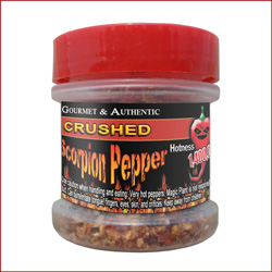 Jar of Crushed Scorpion Peppers