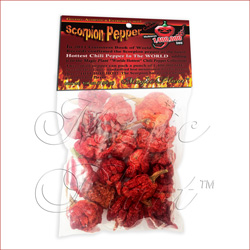 Trinidad Scorpion Pepper Pods